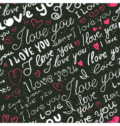 lettering love seamless vector image