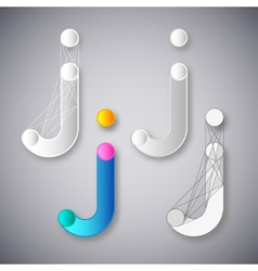 Abstract combination of letter j vector