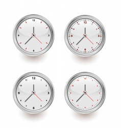 four clocks vector image