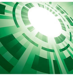 Green abstract background with flash vector