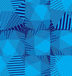 Blue abstract striped textured geometric seamless vector
