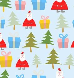 Christmas and new year Seamless pattern Santa vector image