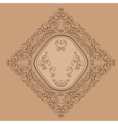 Floral elegant vintage label decor vector