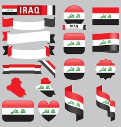 Iraq flags vector