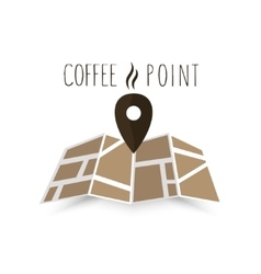 Coffee point navigation on the map vector