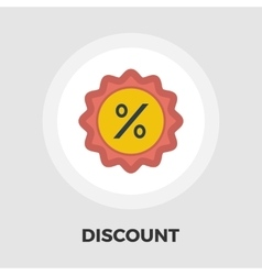Percent label icon flat vector
