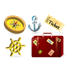 Travel items vector