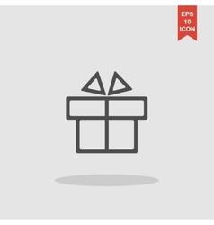 Gift box itson - icon vector