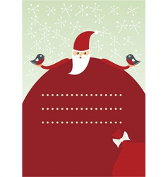 Vintage christmas invitation vector image