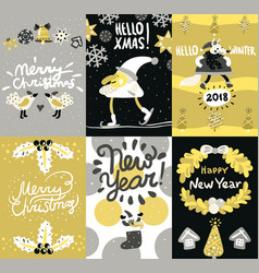 Christmas posters and banners set vector
