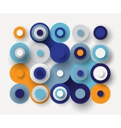 Circles flat background vector image vector image