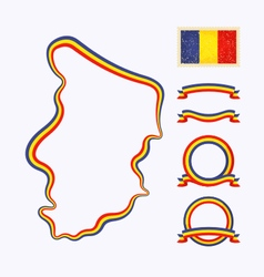 Colors of Chad vector image vector image