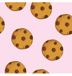 cookie seamless vector image vector image