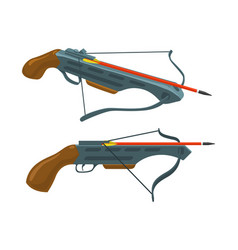 crossbow with arrow vector image