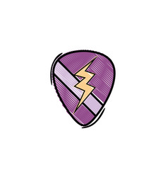 grated rock emblem with thunder symbol design vector image vector image