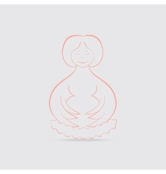 Happy pregnant women concept vector