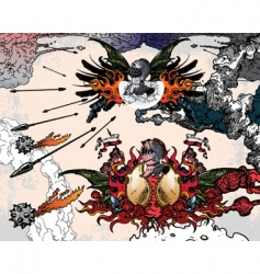 heraldic fantasy vector image vector image