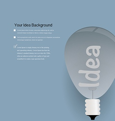 Idea Template vector image vector image
