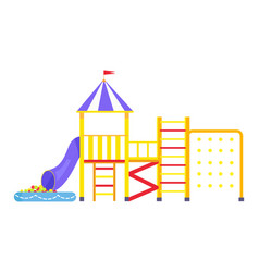 image of big bright playground on white background vector image vector image