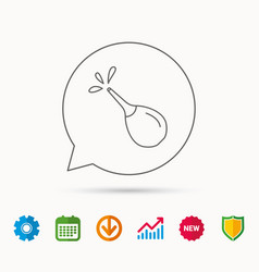 Medical clyster icon enema sign vector