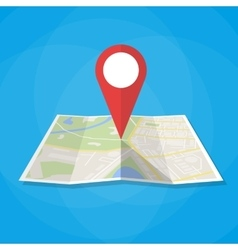 Navigation map icon vector image vector image