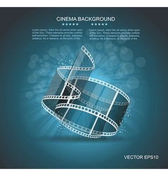 Old cinema banner with stripe roll vector