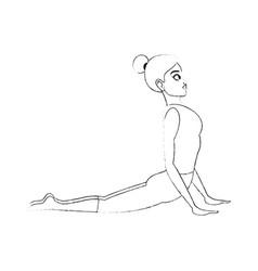 Pretty woman doing yoga yogi icon image vector