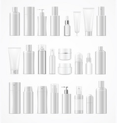 realistic template blank white big cosmetic vector image