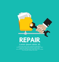 Repair Folder vector image vector image