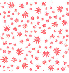 seamless texture marijuana three vector image