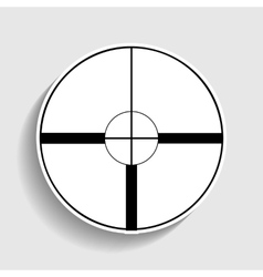 Sight sign Sticker style icon vector image