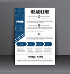 template a4 flyer the design of the technical vector image