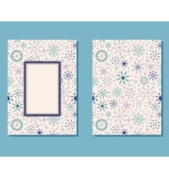 Vintage card with snowflakes vector image vector image