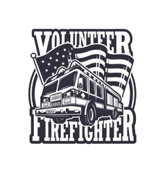 Vintage firefighter emblem vector