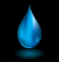 Water droplet black vector