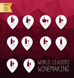 wine icons vector image