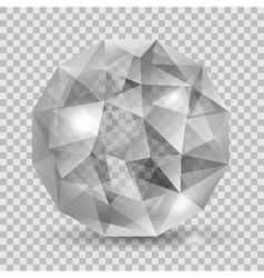 Gray translucent crystal vector