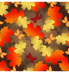Brown gradient autumn seamless pattern vector image