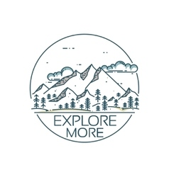Mountains exploration card vector