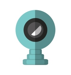 web camera device isolated icon vector image