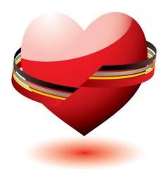 love heart ribbon vector image