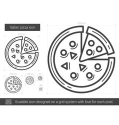 Italian pizza line icon vector