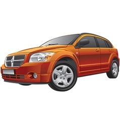 American compact car vector image