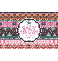 Hipster seamless aztec pattern vector image