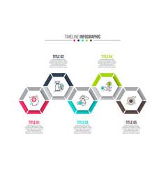 Hexagons elements for infographic vector