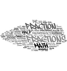 Fractions word cloud concept vector
