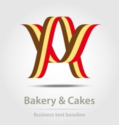 Bakery and cakes business icon vector