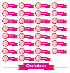 Signs number for october vector