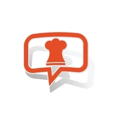 Chef hat message sticker orange vector