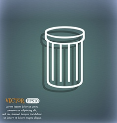 Recycle bin sign icon symbol on the blue-green vector